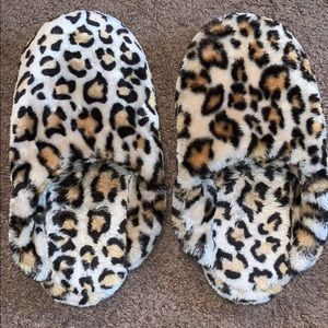 Shoes - cheetah slippers